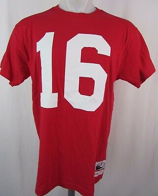 Discount VINTAGE SAN FRANCISCO 49ers Joe Montana #16 Champion Jersey NFL Size  hot sale