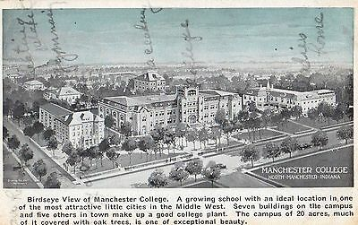 Early Panorama Of Manchester College ~ North Manchester In