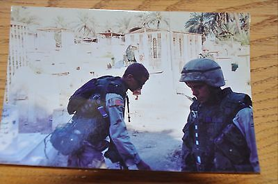 Iraqi Freedom OIF 1st Armored Photograph 5 x 7 Out on patrol in a village