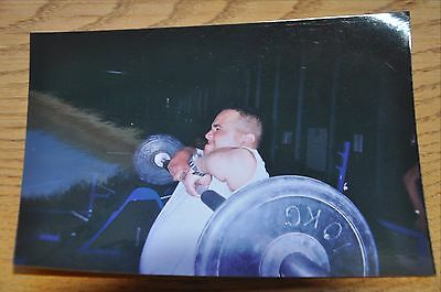 Iraqi Freedom OIF 1st Armored Photograph 5 x 7 lifting weights