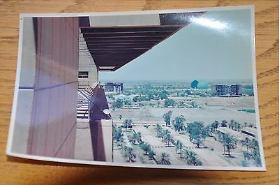 Iraqi Freedom OIF 1st Armored Photograph 5 x 7 Top floor view from Iraq Courts
