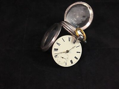 "Antique English Pocket Watch ""James Houghton""  Key Wind, Sterling Silver Case"