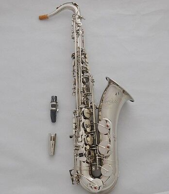 Professional Bb Silver nickel tenor sax high F# Taishan saxophone with case