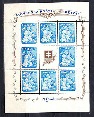 SLOVAKIA B27a - SHEET OF 8 + LABEL - LOOK