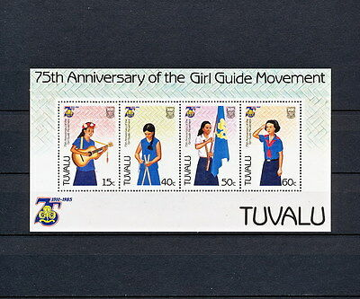ALAC 133 TUVALU Girl Scouts & Girl Guides 1985  MNH