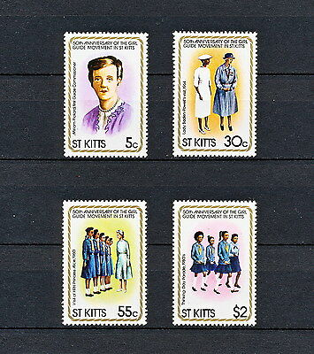 ALAC 202  ST KITTS  Girl Scouts & Girl Guides  1981  MNH