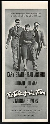1942 Cary Grant photo The Talk of the Town movie release vintage print ad