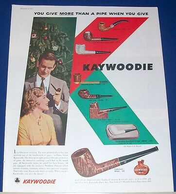 1955 KAYWOODIE PIPE Christmas Gift Ad 8 styles