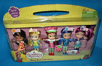New-Strawberry Shortcake - Berry Best Collection - Toys R Us - 5 Special Dolls