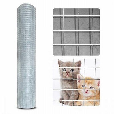 NEW 30M Roll Galvanised Metal Mesh Wire Fence Fencing, Protects Flowers Crop Pet
