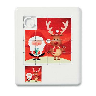 Sliding Red White Christmas Santa Reindeer Picture Puzzle Game Stocking Filler