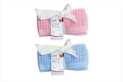 Cellular Blanket Soft Pure 100% Cotton Baby Comfort Newborn
