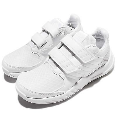 adidas FortaGym CF K CloudFoam White Kids Training Shoes Trainers BA7921