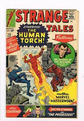 Strange Tales # 118 The Man Who Became the Torch !  grade 4.5 scarce book !
