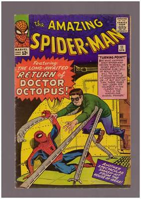 Amazing Spider-Man # 11  The Return of Doctor Octopus !  grade 5.0 scarce book !