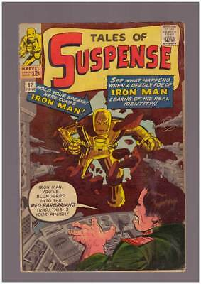 Tales of Suspense # 42  4th Appearance of Iron Man  !  grade 5.0 scarce book !