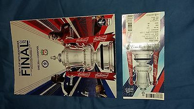 2012 F.A. Cup Final Programme & Ticket Chelsea v Liverpool