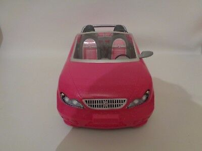 Barbie Sparkly Glam Style Convertible  Pink car In good used condition