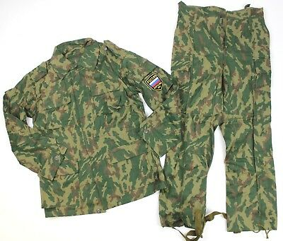 (35) Genuine Soviet Russian Army Uniform In Woodland Flora Camo 36 Chest