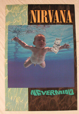 Nirvana 1991 Nevermind Promo Poster Geffen Records New Condition Kurt Cobain