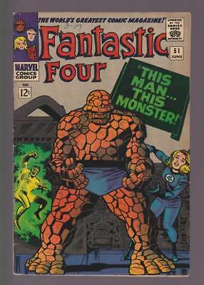 Fantastic Four # 51 This Man-This Monster !   grade 6.5 scarce book !