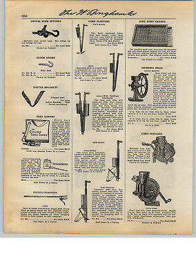 1931 PAPER AD Acme Rotary One Two Hand Corn Planter Little Gian Sheller