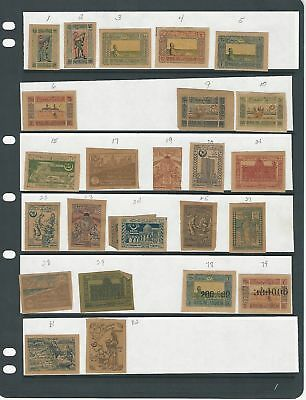 Azerbaijan Collection 1919-24 on 2 Stock Sheets