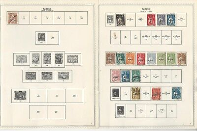 Azores, Portugal Colony, Collection 1868-1928 on 18 Minkus Specialty Pages