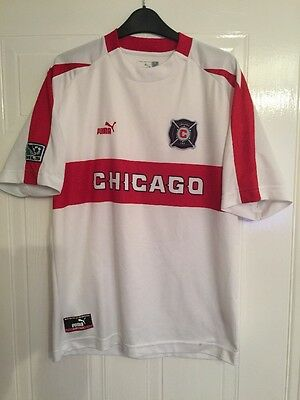 Vintage Chicago Fire Mls Football Shirt - Rare - Size(S)