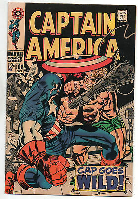 Captain America   106    Great Jack Kirby Cover