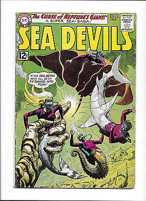 "Sea Devils  #8  [1962 Vg]  ""the Curse Of Neptune's Giant!"""
