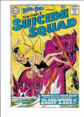 """The Brave & The Bold #27 [1959 Gd-] Suicide Squad  """"the Creature Of Ghost Lake!"""""""