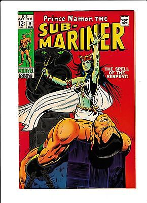 """Sub-Mariner  No.9  : 1969 :  : """"The Spell Of The Serpent!"""" :"""