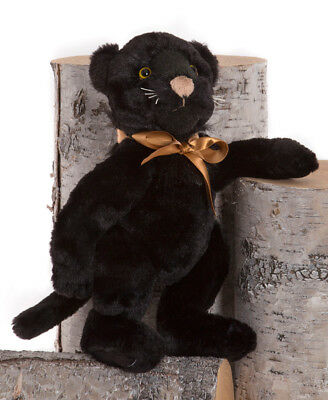 Java collectable plush black panther teddy bear by Charlie Bears - BB173093