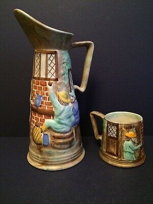 Vintage Burslem  H J Wood Large Jug And Mug