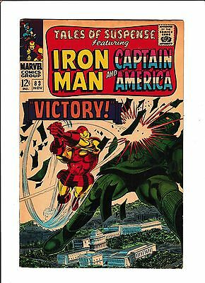 "Tales Of Suspense #83  [1966 Vg+]  ""victory!""  Washington Dc Cover!"