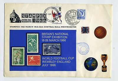 GB 1966 World Cup/Stampex special illustrated cover