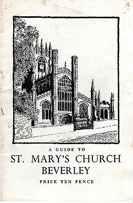 1955 A Guide To Beverley Saint Mary's Church 40011