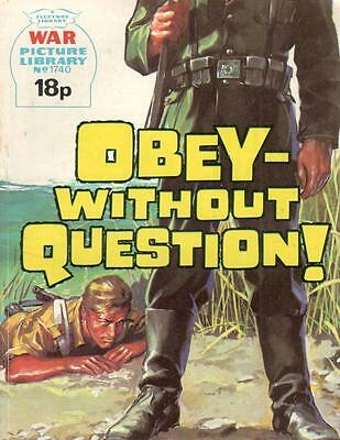 1980 1740 31793 War Picture Library  OBEY WITHOUT QUESTION
