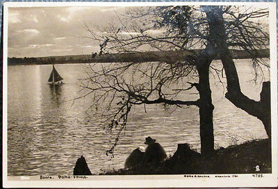 1939 Soviet postcard VIEW ON THE VOLGA, photo by A.Kaspii