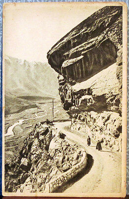 ca.1930 Soviet  postcard THE GEORGIAN MILITARY ROAD: TERRIBLE ROCK