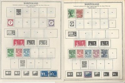Basutoland Collection 1933 to 1966 on Minkus & Scott International Pages