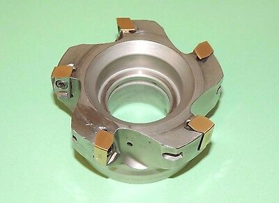 """ISCAR HELIDO 4"""" Indexable 90° Face Mill w/ New Inserts H490 F90AX D4.0-5-1.5-17"""