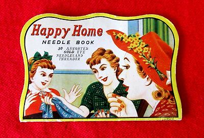 Happy Home Needle Book Sewing Collectible msu3