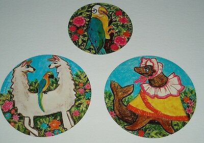 1967 Folgers Coffee DR DOLITTLE Wall Plaque Premiums