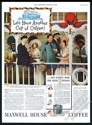 1933 Show Boat musical cast photo Maxwell House Coffee vintage print ad