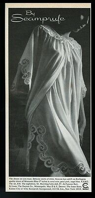 1967 Seamprufe lingerie woman in nightdress photo vintage print ad