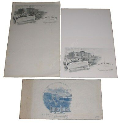 Cooper House Cooperstown NY Hotel Stationery 3pc Lot Letterhead Card Crittenden