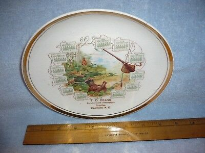 Antique 1912  calendar   PLATE Advertising deans undertakers cleveland N.Y.