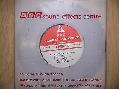 "BBC Sound Effects 7"" Record - Pulleys, Winches & Chains, Secret Santa Gift"